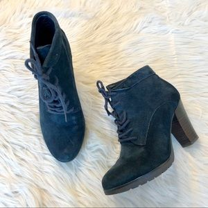 Nine West | Navy Suede Booties